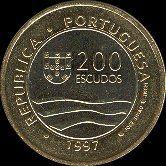 200 Escudos Bi-Metálicas - 1997