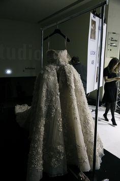 Elie Saab Backstage Spring Summer 2014 Paris Fashion Week