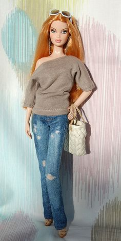 Barbie Basics 1.5 - love her ripped jeans!