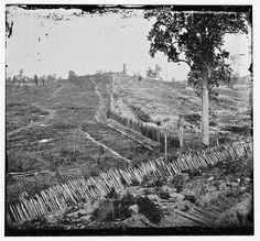 Confederate Palisades, north side of Atlanta, 1864