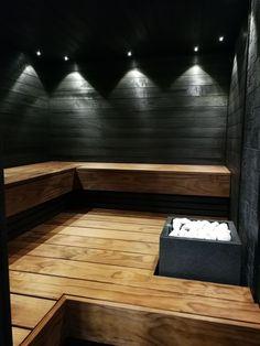 Aspen sauna panels are perfect choice for sauna decoration. Scandinavian Saunas, Scandinavian Style, Bathroom Styling, Bathroom Interior Design, Cladding Materials, Sauna Design, Steam Room, Sweet Home, New Homes