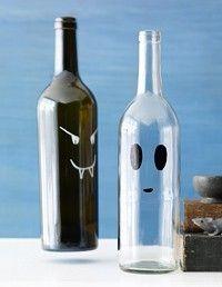 haloween wine bottle craft