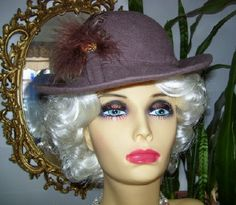 Vintage 1980s Lancaster Brown Wool Brim by LavenderPathAntiques, $28.00