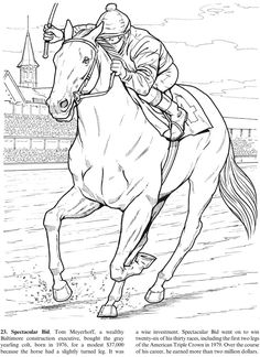 Great Racehorses: Triple Crown Winners and Other Champions Monkey Coloring Pages, Sports Coloring Pages, Fish Coloring Page, Horse Coloring Pages, Coloring Book Art, Colouring Pages, Coloring Pages For Kids, Coloring Sheets, Wild Animals Photography