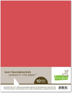 Lawn Fawn Fawndamentals 8.5 x 11' Cardstock - Chili Pepper