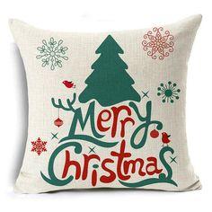 Tronzo Christmas Decorations For Home Merry Christmas Reindeer Linen Jute Pillow Cover Adornos Navidad 2017 Xmas Theme, Christmas Themes, Christmas Decorations, Holiday Decor, Decorative Pillow Covers, Throw Pillow Covers, Decorative Throw Pillows, Pillow Cases, Christmas Cushion Covers