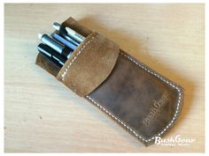 Leather Pocket Protector / Pencil Pouch / Pen Pocket / Pen case / Pen Holder