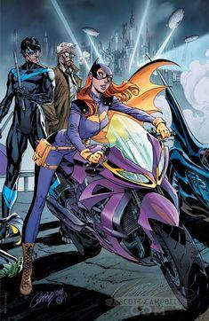Check out Nightwing checking out Batgirl's umm. -Batman - J Scott Campbell Connecting Variant Cover C Batwoman, Nightwing And Batgirl, Batman And Catwoman, Joker, Gotham Batman, Catwoman Comic, Batman Comic Art, Batman Robin, Superman