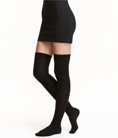 Check this out! Fine-knit over-knee socks. - Visit hm.com to see more.