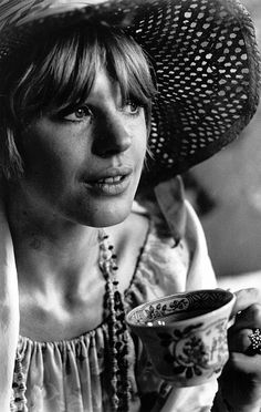 Marianne Faithfull at home, 1967. Photographed by Michael Ward