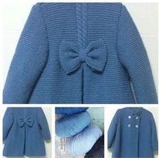 I knittersofinstagra 😍 # # # crochet knitting crocheting # # # I örgümüseviy mesh # k … - Nahen Baby Knitting Patterns, Knitting For Kids, Crochet For Kids, Baby Patterns, Crochet Baby, Knit Crochet, Knit Baby Sweaters, Knitted Baby Clothes, Baby Coat