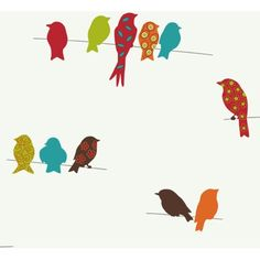 Bird On A Wire Wallpaper.....thinking this may be just the one for my accent wall.