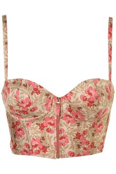Cute floral crop top bustier in love with ther=ese tops for summer