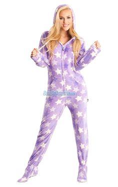 Purple Haze - Hooded Footed Pajamas - Pajamas Footie PJs Onesies One Piece Adult  Pajamas - c38844b69