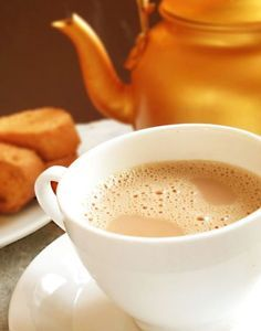 Journey Kitchen: Masala Chai - Indian Spiced Milk Tea - who needs tea with all of those yummy spices (including rose petals) Masala Chai, Tea Recipes, Coffee Recipes, Indian Food Recipes, Black Tea Benefits, Traditional Indian Food, Nepali Food, Milk Tea, Food And Drink