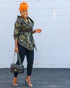 Discover this look wearing Wrapqueen Accessories - Perfect Camouflage Jacket by styled for Chic, Everyday in the Spring Chic Outfits, Summer Outfits, Fashion Outfits, Fashion Trends, Black Women Fashion, Girl Fashion, Womens Fashion, Camouflage Coat, Mode Chic