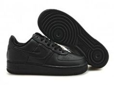 Men Air Force 1 25th Low Shoes All Black.$75.96