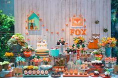 "Decor ""Little Fox"" by Atelier Tati Sabino #foxparty #festaraposa"