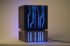Chiaroscuro Computer Case made of wood.