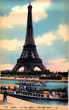 vintage eiffel tower image