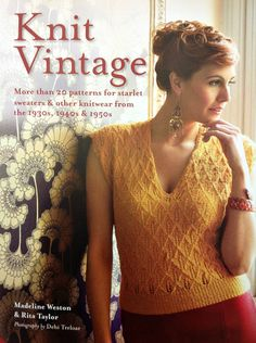 """Knit Vintage - more than 20 patterns from starlet sweaters other knitwear from the Vintage Outfits, Vintage Fashion, Vintage Clothing, Quick Knits, Vintage Stil, Vintage Knitting, Grosgrain, Beautiful Dresses, Knitwear"