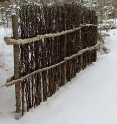 Tee se itse -ideoita puutarhaan : helmikuu 2013 [Finnish: Do it yourself ideas for garden, February Cerca Natural, Garden Fencing, Garden Art, Rustic Gardens, Outdoor Gardens, Outdoor Projects, Garden Projects, Fence Design, Garden Design