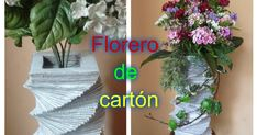 Florero que sirve tanto para flores artificiales como para flores frescas. Da clic en la i... Fresco, Paper Vase, Hanukkah, Glass Vase, Wreaths, Plants, Decor, Fresh Flowers, Fake Flowers