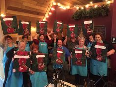 Great group holiday #painting #PaintOlathe
