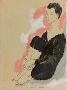LADY GYMNAST by ©Svetlana Kurmaz Canvas Size, Oil On Canvas, Original Art, Original Paintings, Black Grapes, Limited Edition Prints, Gymnastics, Folk Art, Vintage Woman