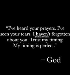 God's timing is absolutely perfect. Faith Quotes, Bible Quotes, Me Quotes, Trust Quotes, Prayer Quotes, Religious Quotes, Spiritual Quotes, Quotes About God, Quotes To Live By
