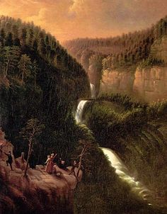 "George Cooke (American, 1793 - 1849), ""Tallulah Falls,"" 1841, Georgia Museum of Art, University of Georgia."