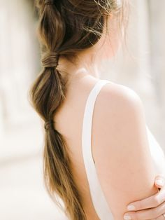 Soft and feminine wedding hairstyle perfect for a dreamy, feminine elopement in Paris. #pinkweddingideas #elopementweddingideas #destinationweddings