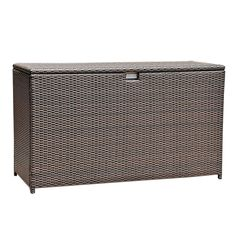 (This is an affiliate pin) Espresso Brown Aluminum Frame Wicker Storage Bin Deck Box. Click image for more details. #OutdoorStorage Deck Box, Outdoor Furniture, Outdoor Decor, Outdoor Storage, Storage Solutions, Decks, Storage Spaces, Espresso, Wicker