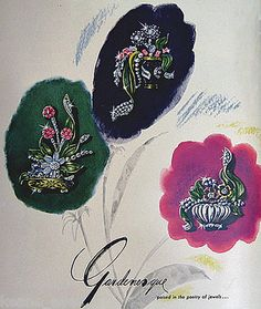 Advertisement for Reja Gardenesque Jewelry from the 1940s