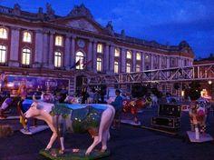 Opening celebration CowParade Toulouse 2012.