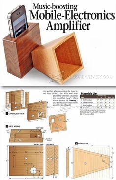 DIY Iphone Amplifier - Woodworking Plans, Woodworking Projects  | http://WoodArchivist.com
