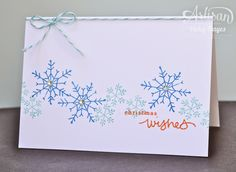 Stampin' Up ready-made notecards + Endless Wishes stamp set = quick, easy-post Christmas cards!