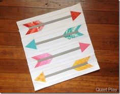 Paper Pieced Arrows by Quiet Play. Pattern on Craftsy.