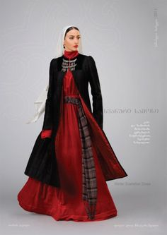 """Samoseli Pirveli"" - Georgian National Costume. Winter Svanetian Dress - Collection 2011."
