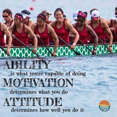 How is your attitude affecting your success? #paddlechica #dragonboat #positiveattitude  Photo: Ed Nguyen