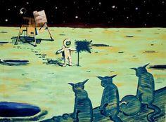 "Saatchi Art Artist Nico Kos; Painting, ""Landing"" #art"