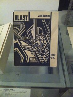 A magazine called 'Blast' a review of the great English vortex, no. 2 (1915), edited by Wyndham Lewis (British, 1882-1957). By the time the second issue was published the Great War had started.