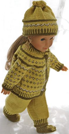 Knitting patterns for american girl doll clothes – Knitting Baby İdeas. Knitting Dolls Clothes, Knitted Dolls, Doll Clothes Patterns, Doll Patterns, Knitting Toys, Baby Girl Dolls, Baby Doll Clothes, Baby Girl Patterns, Baby Knitting Patterns