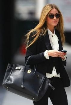 Hermes Celebrities olivia birkin Frockage: Hermes Birkin bag