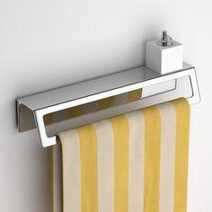 Handtuchhalter / 2 Stangen / Wandmontage / aus Edelstahl / Seifenhalter