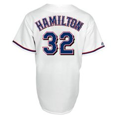 Texas Rangers Replica Josh Hamilton Home Jersey