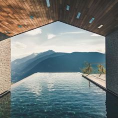 Now that's an infinity pool. Miramonte Boutique Hotel in the Dolomites Italy. More
