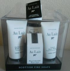 Scottish Fine Soaps Au Lait 4 in 1 Gift Set *** Learn more by visiting the image link.(This is an Amazon affiliate link and I receive a commission for the sales)