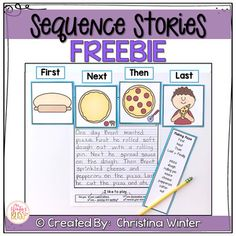 Sequence Story Writing Prompts FREEMy students are so successful at writing using these sequence prompts!  Writers use the 4 sequence picture cards to order events, then they can use the transition words and specific story vocabulary words to tell their story.