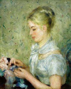 The Milliner - Pierre Auguste Renoir   1875